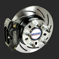 Strange Pro Series Rear Brake Kit For Mopar Housing Ends – Includes Axle Bearings With Slotted Rotors, Four Piston Calipers & Soft Metallic Pads