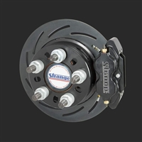 Strange Pro Series II Rear Brake Kit For H1147 Ends with 2.500″ Brake Offset                                                   With 2 Pc Slotted Rotors, Four Piston Calipers & Hard Metallic Pads