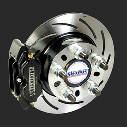 Strange Pro Series Rear Brake Kit For H1143 Ends with 2.832″ Brake Offset With Slotted Rotors, Four Piston Calipers & Soft Metallic Pads